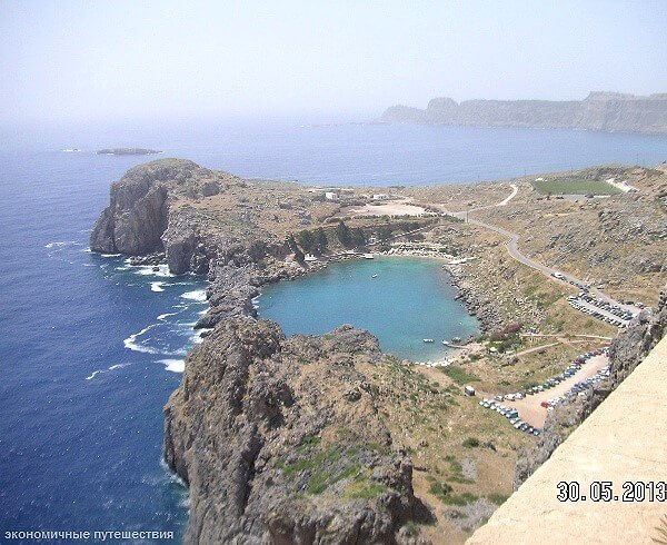 Обзорный вид бухты святого Павла на Родосе