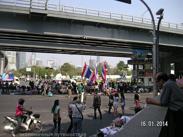 bangkok-шнствие демонстрантов