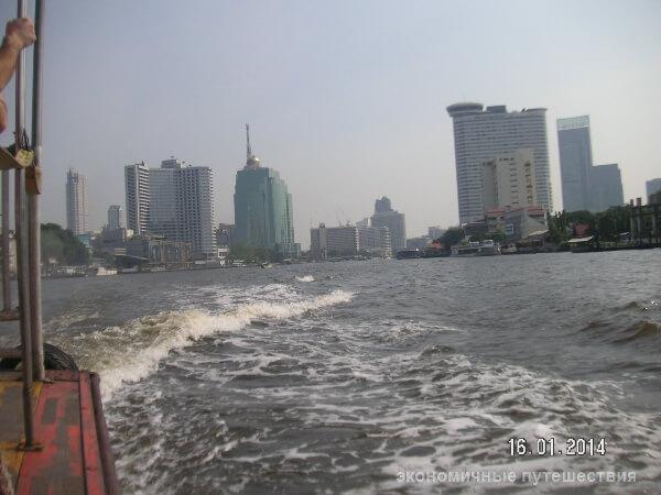 прогулка на катере в бангкоке