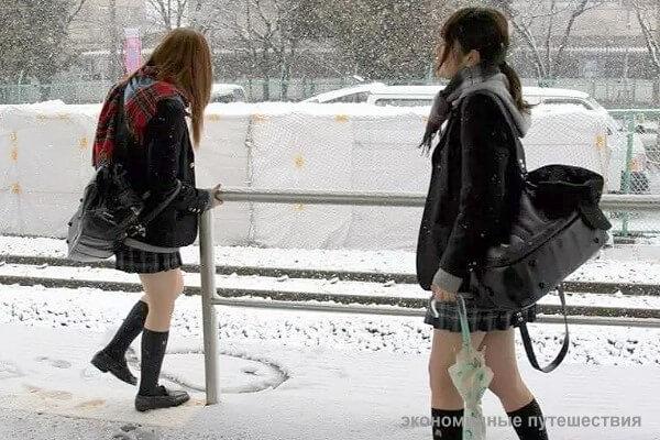 Japan girls in winter